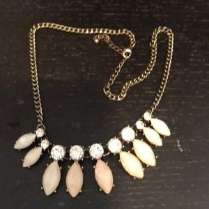 Jewelry - Pale pink and white stone necklace